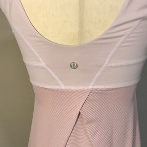 GUC pale pink work out top- lululemon tame me tank